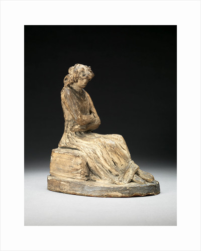 Terracotta bozzetto of a seated woman by Anne Seymour Damer