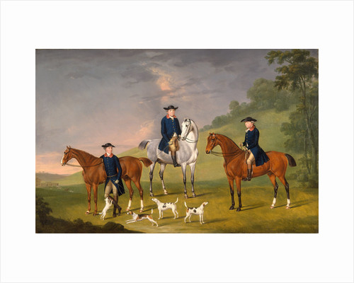 John Corbet, Sir Robert Leighton and John Kynaston with their Horses and Hounds by Thomas Stringer