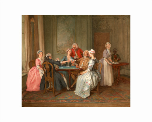 A Game of Quadrille by Hubert-François Gravelot