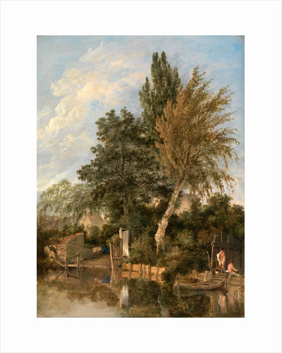 Boys Bathing on the River Wensum, Norwich A River Scene with Boys Bathing View on the Wesum at Thorpe by John Crome
