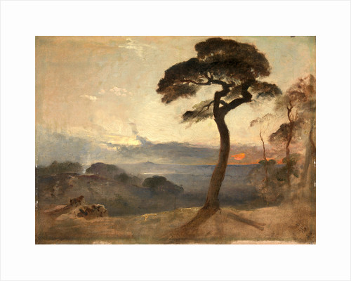 Hampstead Heath, Sunset by Francis Danby