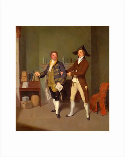 John Quick and John Fawcett in Thomas Moreton's 'The Way to Get Married' by Samuel de Wilde