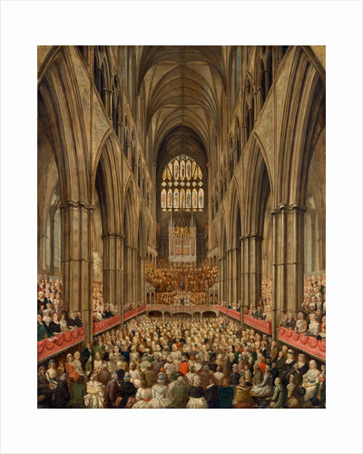 Interior View of Westminster Abbey on the Commemoration of Handel, Taken from the Manager's Box, London by Edward Edwards