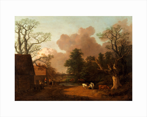 Landscape with Milkmaid by Thomas Gainsborough