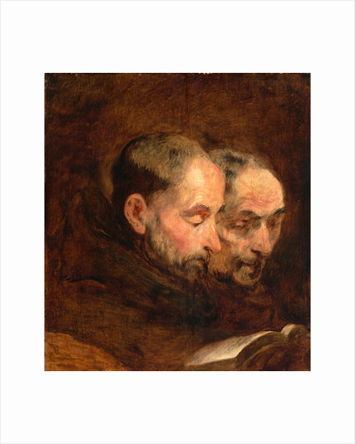 A Copy after a Painting Traditionally Attributed to Van Dyck of Two Monks Reading by Thomas Gainsborough