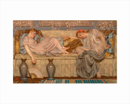 Beads (study) Two Women on a Sofa, 1875 by Albert Joseph Moore