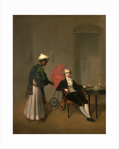 Portrait of a Gentleman, Possibly William Hickey, and an Indian Servant by Arthur William Devis