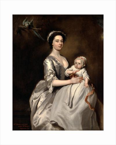 Mrs. Sharpe and Her Child Mrs. Sharpe and Child by Joseph Highmore