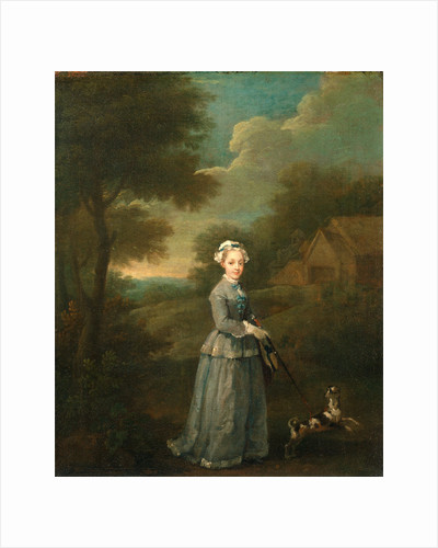 Miss Wood Miss Wood with her Dog by William Hogarth
