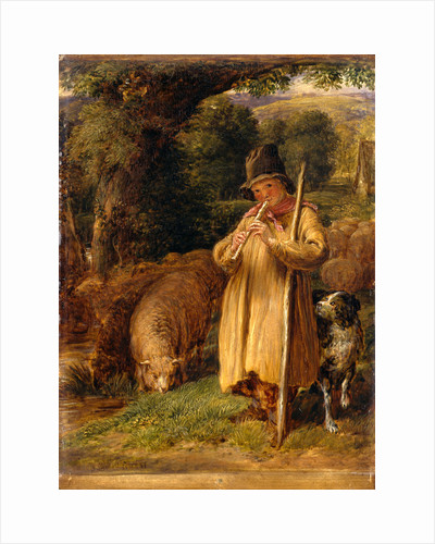 Shepherd Boy Playing a Flute by John Linnell