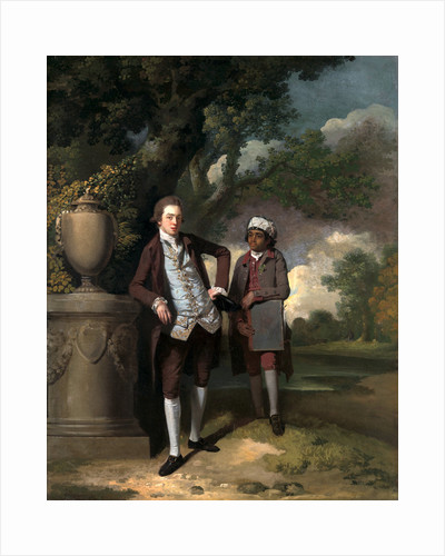 A Young Man with his Indian(?) Servant Holding a Portfolio by John Hamilton Mortimer