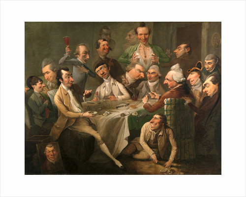 A Caricature Group including Members of the Howdalian Society by John Hamilton Mortimer