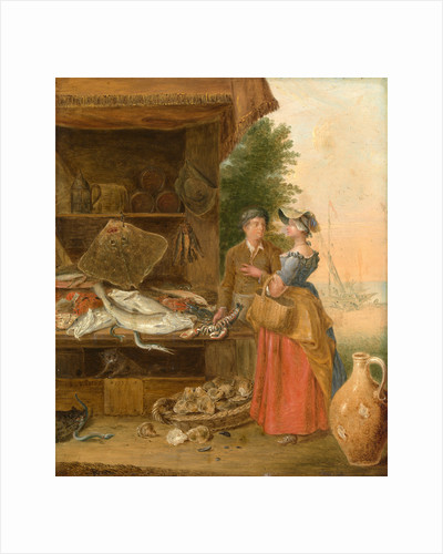 Fishmonger's stall by Balthazar Nebot