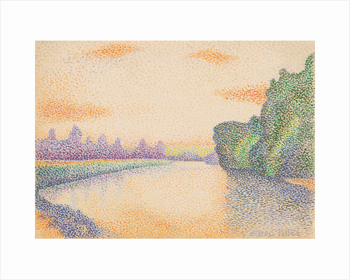 The Banks of the Marne at Dawn by Albert Dubois-Pillet