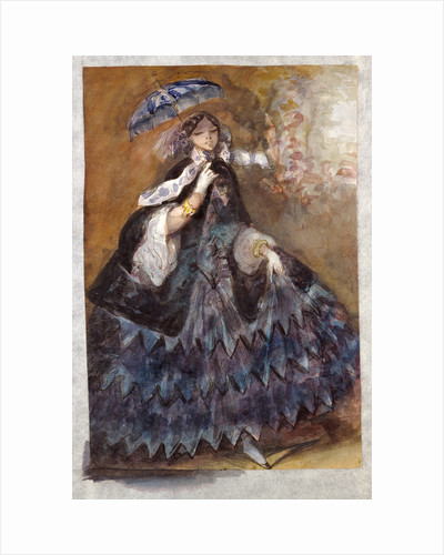 Woman with a Parasol by Constantin Guys