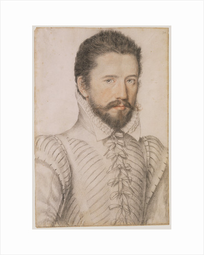 Portrait of a bearded man, half-length, wearing a slashed doublet by L'Anonyme Lécurieux