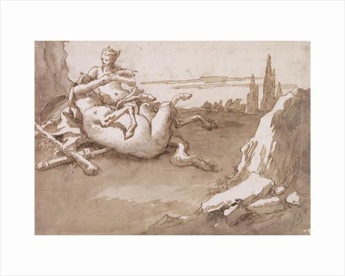 A Centaur and a Female Faun in a Landscape by Giovanni Domenico Tiepolo