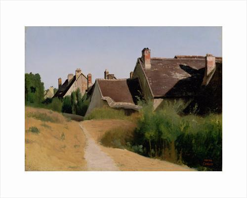 Houses near Orléans by Jean-Baptiste-Camille Corot