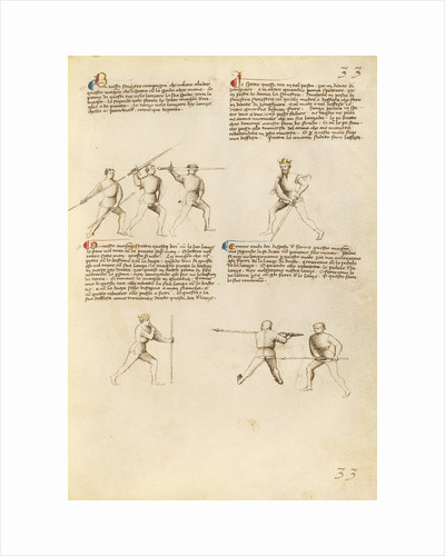 Combat with Sword, Staff, and Lance by Fiore Furlan dei Liberi da Premariacco
