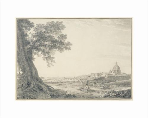 An extensive view of Rome from the Orti della Pineta Sacchetti by Giovanni Battista Lusieri