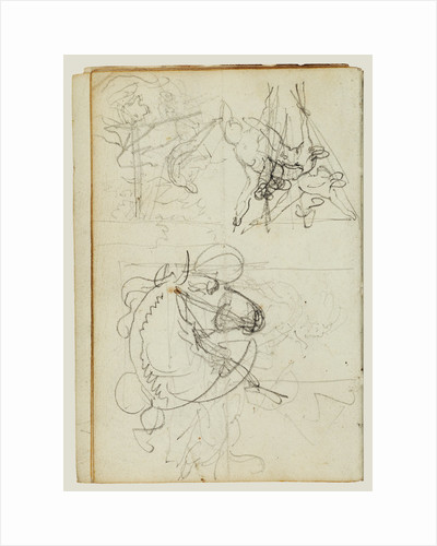 Compositional studies by Théodore Géricault