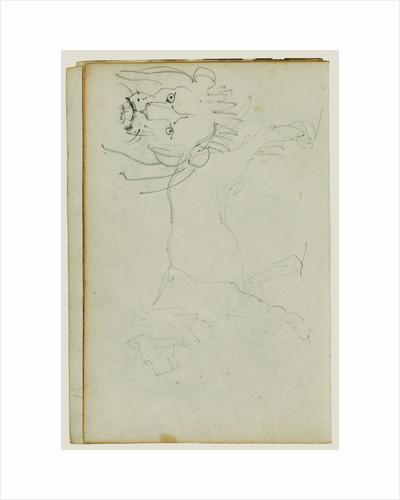 Lion walking, face of lion by Théodore Géricault