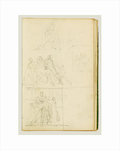 Four compositional studies for a group of figures by Théodore Géricault
