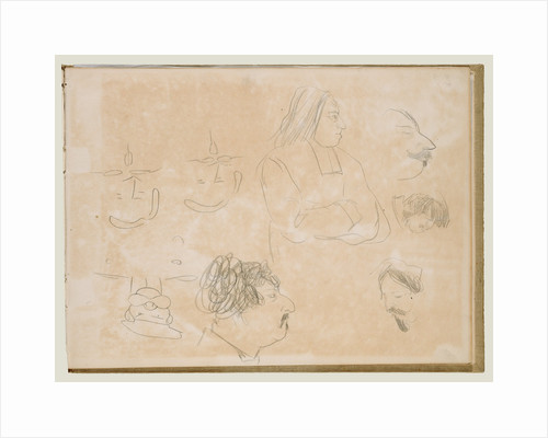 Caricature Sketches by Edgar Degas