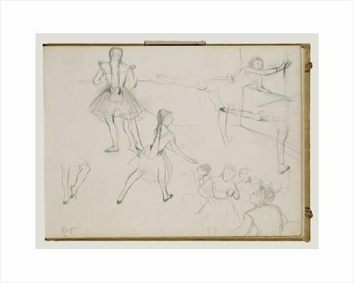 Ballet Dancers Rehearsing by Edgar Degas
