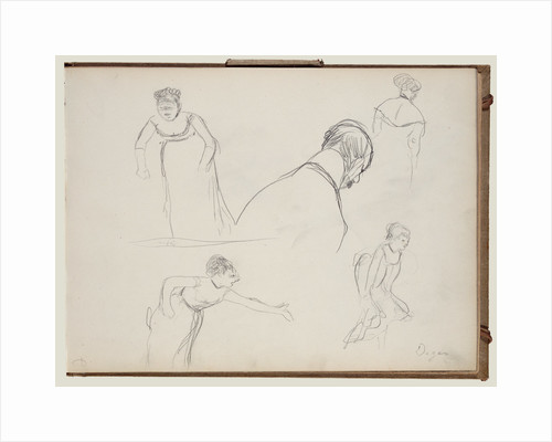 Five Rapid Sketches by Edgar Degas