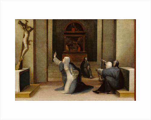 Saint Catherine of Siena Receiving the Stigmata by Domenico Beccafumi