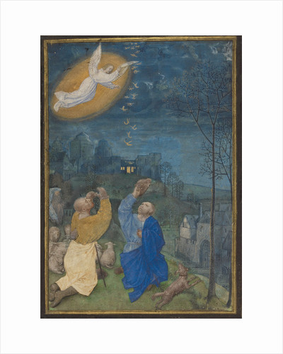 The Annunciation to the Shepherds by Master of the Houghton Miniatures