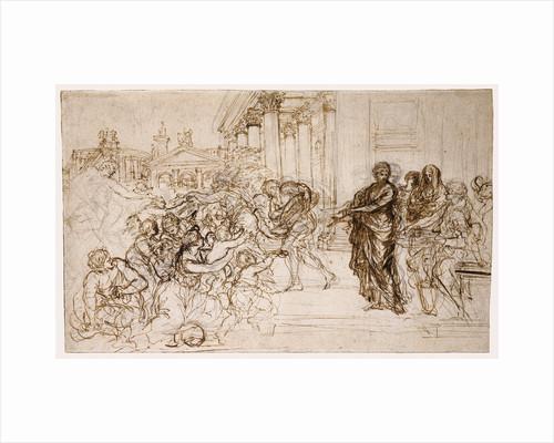 Saint Cecilia Giving Alms to the Poor by Pietro da Cortona
