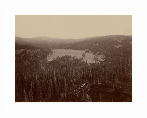 Dams and Lake, Nevada County, California, Distant View by Carleton Watkins