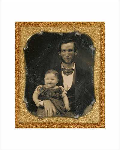Portrait of a Father and Smiling Child by Anonymous