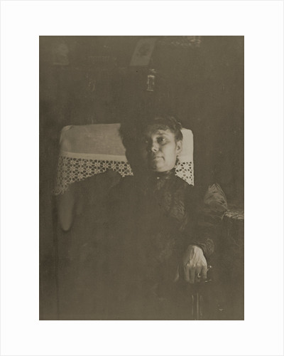 Portrait of Louise Halévy by Lamplight. (Portrait de Louise Halévy à la lueur de la lampe) by Edgar Degas