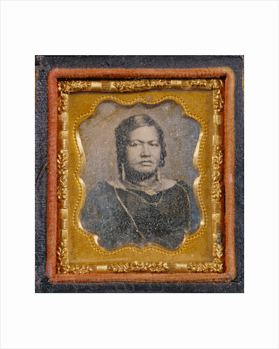 Portrait of an older Native American woman by Anonymous