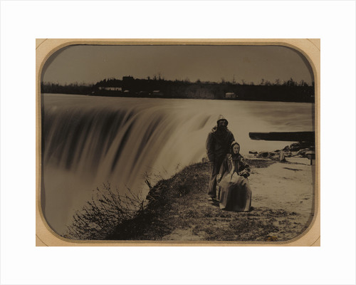 Portrait of a Couple at Niagara Falls in Waterproof Clothing by Henry Hollister