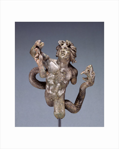 Statuette of a Snake-legged Giant by Anonymous