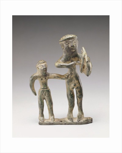 Statuette of a Lyre Player with a Companion by Anonymous