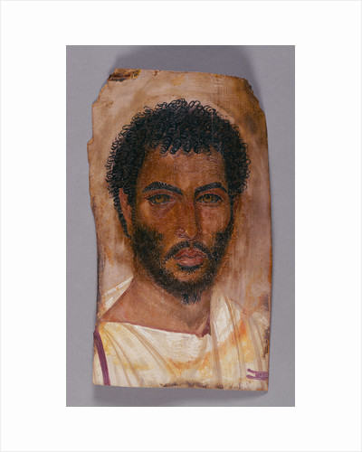 Mummy Portrait of a Bearded Man by Anonymous
