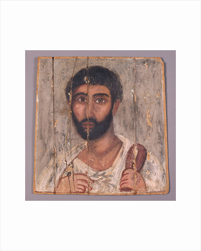 Portrait of a Bearded Man from a Shrine by Anonymous