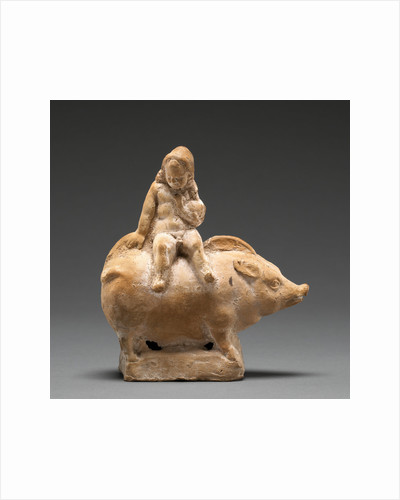 Figure of a Child Seated Atop a Pig by Anonymous