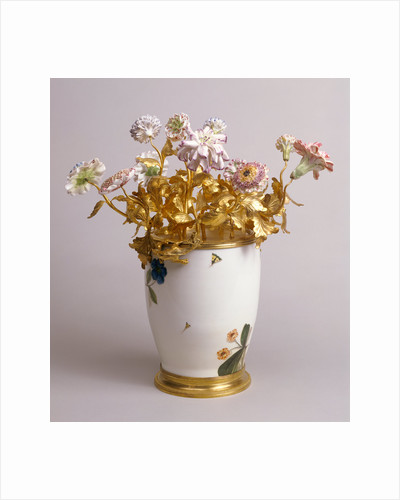Mounted Vase with Flowers by Bronzier Anonymous