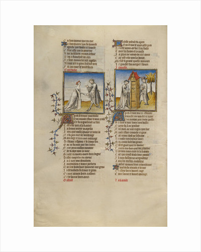 Courtesy with a Knight, Idleness Opening the Door for the Lover by Anonymous