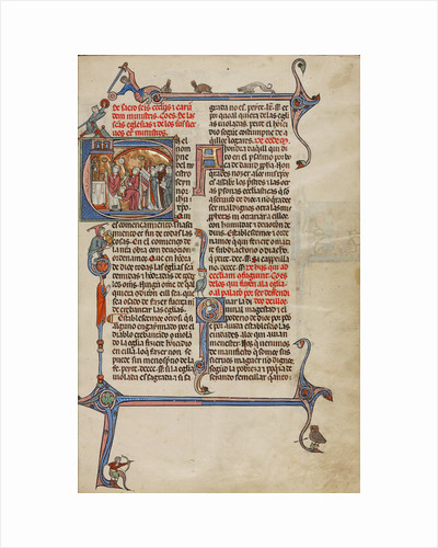 Initial E: A Priest Celebrating Mass by Anonymous