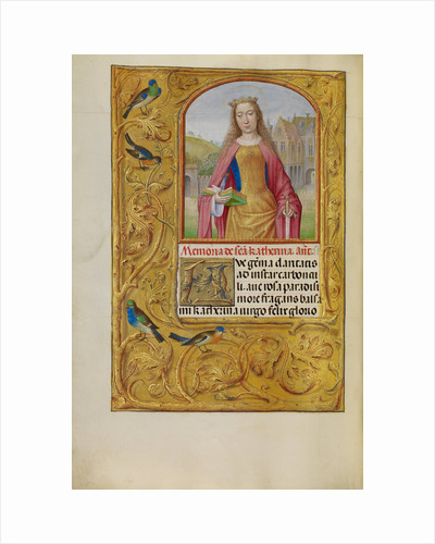 Saint Catherine with a Sword and a Book by Workshop of Master of the First Prayer Book of Maximilian