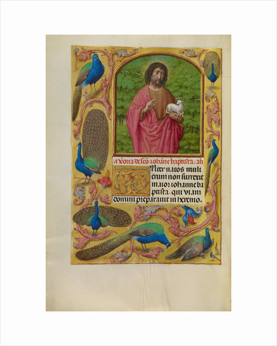 Saint John the Baptist with the Lamb of God on a Book by Workshop of Master of the First Prayer Book of Maximilian