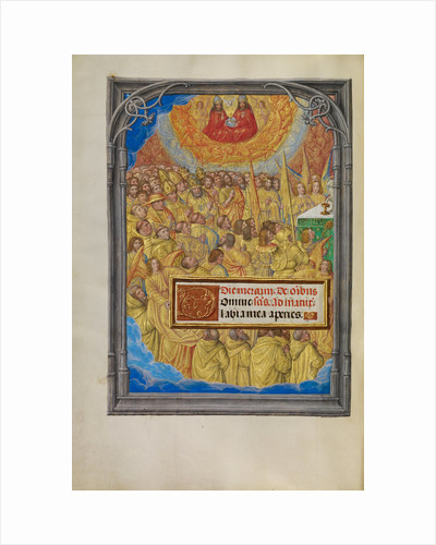 Martyrs and Saints Worshipping the Lamb of God by Master of James IV of Scotland
