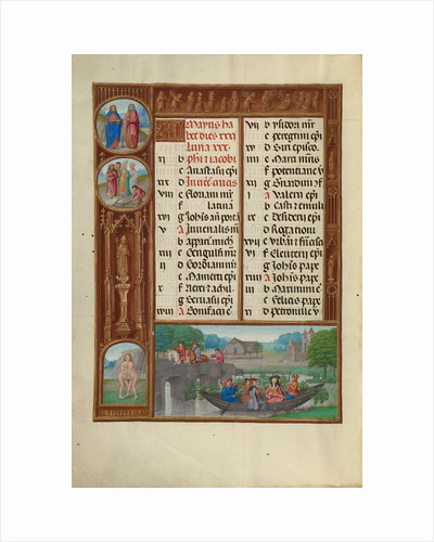Music-Making, Zodiacal Sign of Gemini by Workshop of the Master of James IV of Scotland
